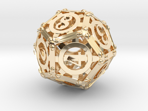 Steampunk d12 in 14K Yellow Gold