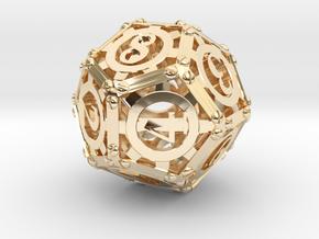 Steampunk d12 in 14K Gold