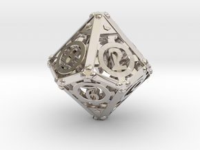 Steampunk d10 in Platinum