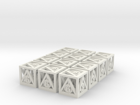 Deathly Hallows 12d6 Set in White Natural Versatile Plastic