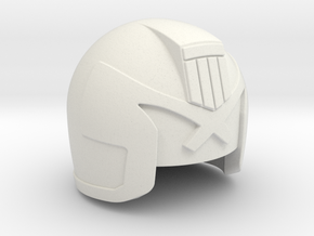 Judge Helmet in White Natural Versatile Plastic