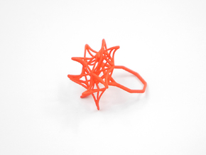 Aster Ring (Small) Size 9 in White Natural Versatile Plastic
