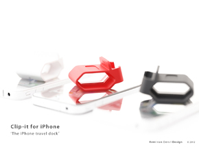Clip-it - The iPhone travel dock in White Strong & Flexible Polished
