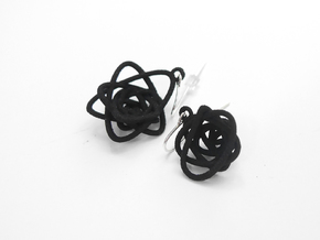 Sprouted Spiral Earrings in Black Strong & Flexible