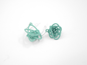Sprouted Spiral Earrings in White Natural Versatile Plastic
