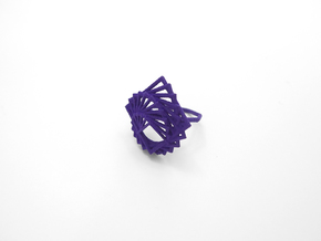 Arithmetic Ring (Size 7) in Purple Strong & Flexible Polished
