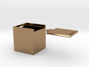 """Box for small """"SOMA cube"""" (please see the product) in Natural Brass"""