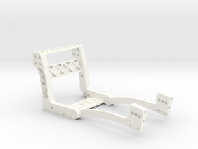 MicroCoaster V1.6 Chassis only in White Processed Versatile Plastic