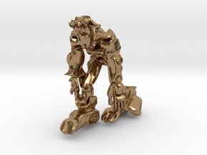Scar Ape like Robot in Natural Brass