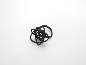 Sprouted Spiral Ring (Size 6) in Black Natural Versatile Plastic
