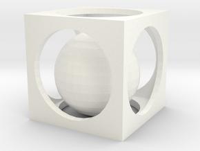 Small Box Puzzle in White Processed Versatile Plastic