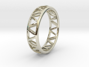 Truss Ring 2 Size 10 in 14k White Gold
