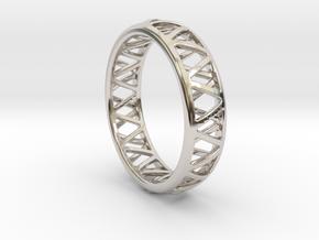 Truss Ring 1 Size 10 in Platinum