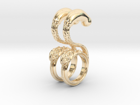 Dragon Loop Hanging Design (select a size) in 14K Yellow Gold