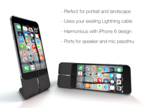 Prehiti iPhone 6 Dock in Black Natural Versatile Plastic