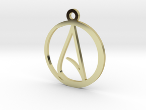 Atheist Pendant in 18k Gold