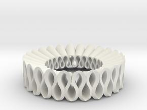 Ruffle PD in White Natural Versatile Plastic