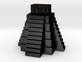 Ziggurat, Mayan Temple in Matte Black Steel