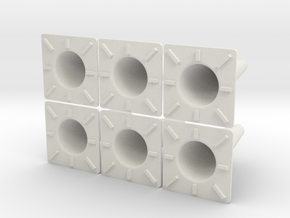 3d Cone 6ea in White Strong & Flexible
