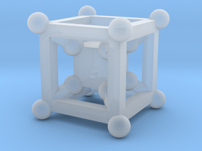 Cube charm in Smooth Fine Detail Plastic