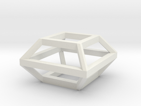 Cube charm in White Natural Versatile Plastic