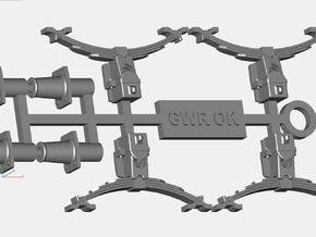 GWR OK axleboxes,springs and buffers buffers in Frosted Ultra Detail