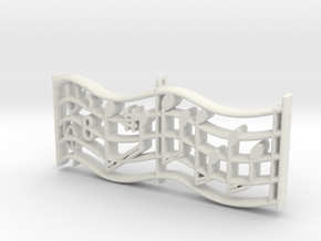Fur Elise music sheet Pendant in White Natural Versatile Plastic