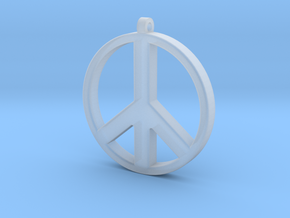 Peace Pendant in Smooth Fine Detail Plastic