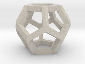 Dodecahedron charm Large in Natural Sandstone