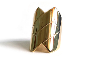 Embrace ring in 18k Gold Plated: 8 / 56.75