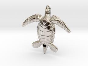 Sea Turtle in Platinum