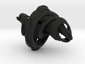 Julia Set Pendant in Black Natural Versatile Plastic