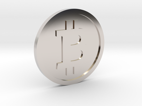 Coin Size bitcoin in Platinum