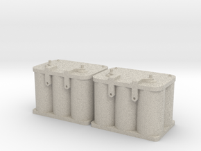 Optima Style 1:10 Scale Battery  **2 Each** in Natural Sandstone