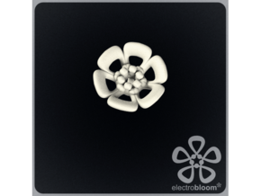 Joshua flower charm. in White Natural Versatile Plastic
