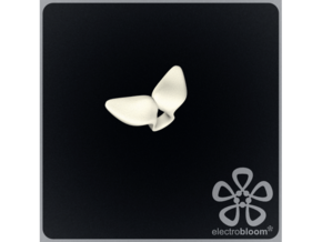 Louise leaf charm. in White Natural Versatile Plastic