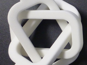 female/female Borromean rings in White Strong & Flexible Polished
