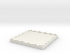 2 inch Miniature Base for Table top Miniatures Sol in White Natural Versatile Plastic