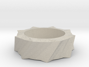 Tea Light Holder in Sandstone