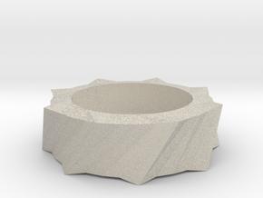 Tea Light Holder in Natural Sandstone