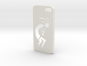 Kokopelli iPhone Case in White Natural Versatile Plastic