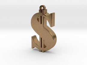Dollar Pendant in Natural Brass