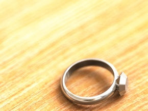 Cristall Ring4 6 size in Fine Detail Polished Silver