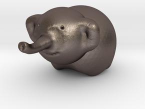 Ella the Elephant in Polished Bronzed Silver Steel