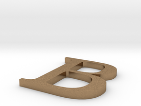 Letter-B in Natural Brass