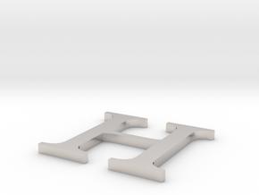 Letter-H in Platinum