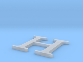 Letter-H in Smooth Fine Detail Plastic