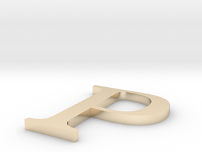 Letter-P in 14K Yellow Gold