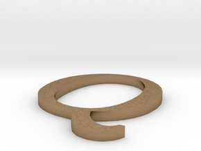 Letter-Q in Natural Brass
