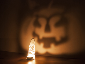 In the shadows - A Halloween Pumpkin Projection  in White Strong & Flexible